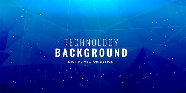 Design de fundo azul conceito de tecnologia