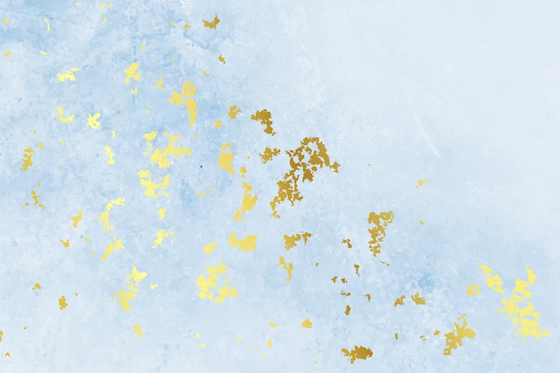 Design de fundo azul vintage folha de textura de ouro