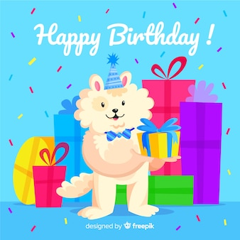 Design de fundo bonito feliz aniversário
