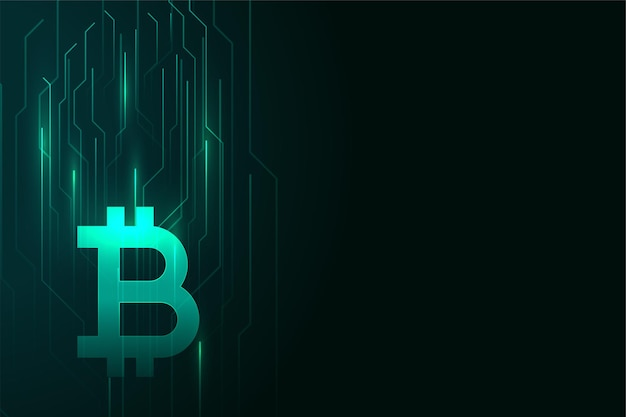 Design de fundo brilhante digital bitcoin