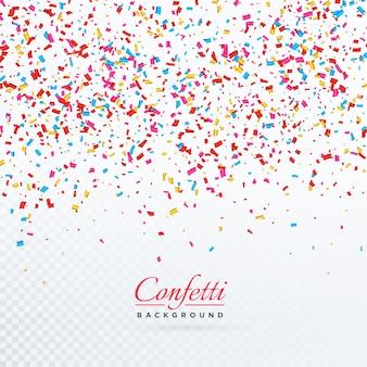 Design de fundo colorido de confetes caídos