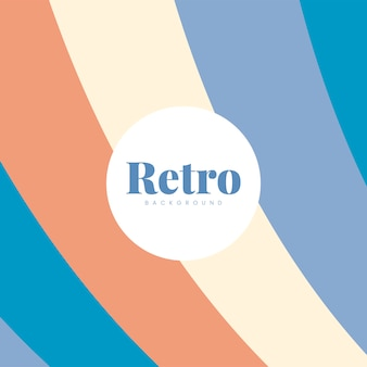 Design de fundo colorido impressão retro
