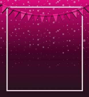 Design de fundo com bandeiras rosa