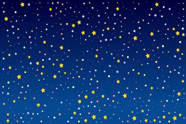 Design de fundo com estrelas brilhantes