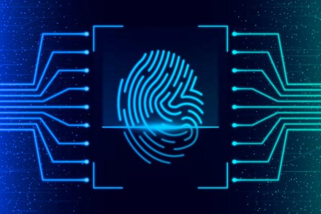 Design de fundo com impressão digital de néon