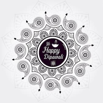 Design de fundo criativo feliz diwali
