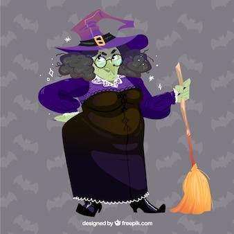 Design de fundo da bruxa