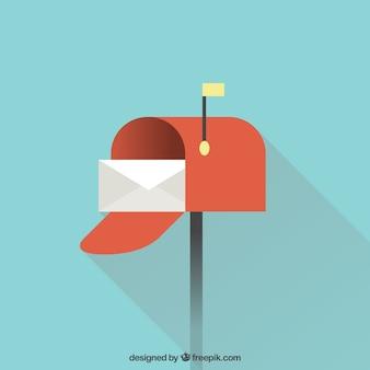 Design de fundo da caixa de correio