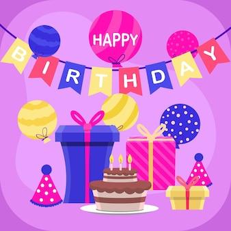 Design de fundo de aniversário festivo