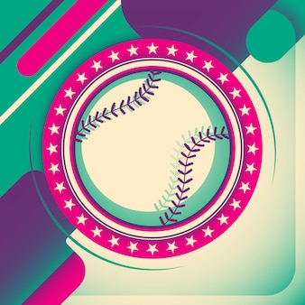 Design de fundo de beisebol