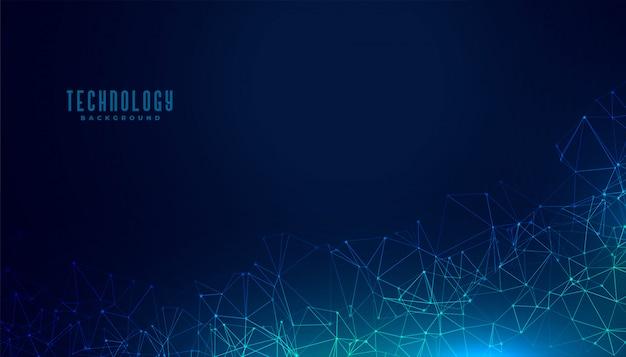 Design de fundo de conceito digital de malha poligonal de tecnologia