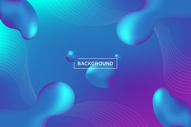 Design de fundo de cor azul líquido