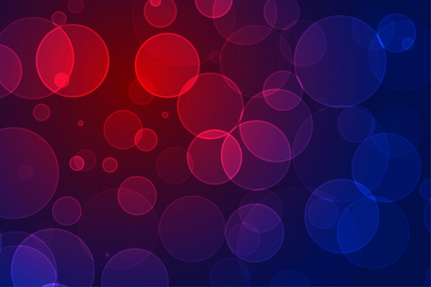 Design de fundo de efeito de luzes de néon vibrante bokeh