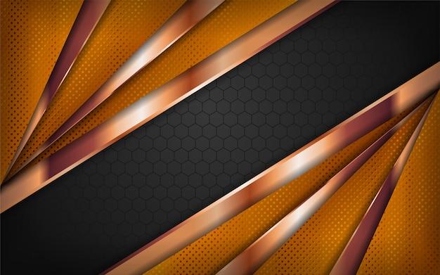Design de fundo de luxo combinações preto e ouro.