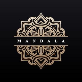 Design de fundo de luxo mandala logotipo
