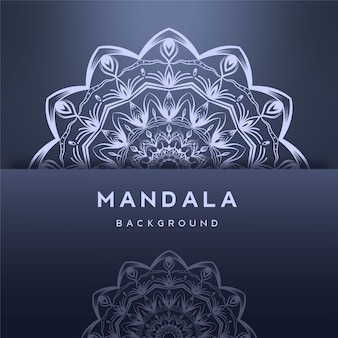 Design de fundo de mandala ornamental
