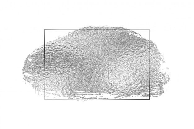 Design de fundo de moldura vazia de textura de folha de prata