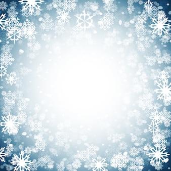Design de fundo de natal com flocos de neve