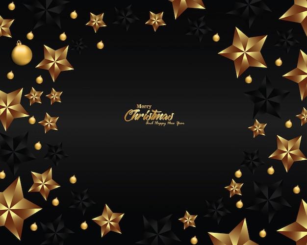 Design de fundo de natal de luxo para banner e cartão
