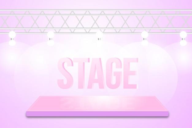 Design de fundo de palco de dança