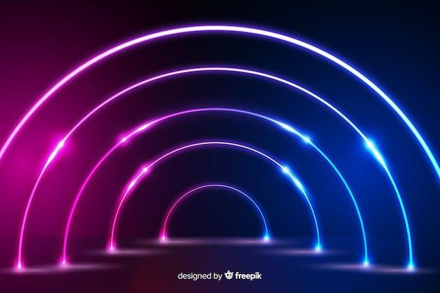 Design de fundo de palco de luzes de néon