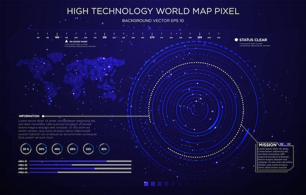 Design de fundo de papel de parede de interface de tecnologia