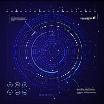 Design de fundo de papel de parede de tecnologia
