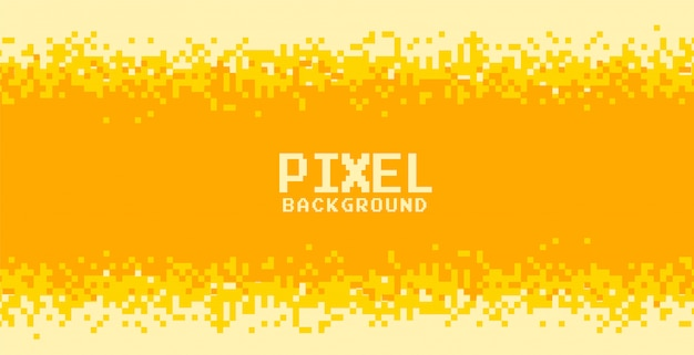 Design de fundo de pixel em tons de amarelo e laranja