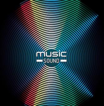Design de fundo de som de música