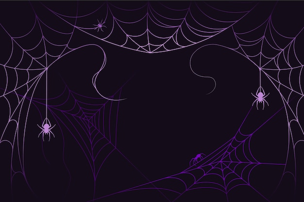 Design de fundo de teia de aranha de halloween