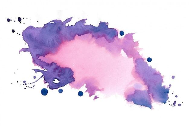 Design de fundo de textura de mancha de aquarela de pintados à mão