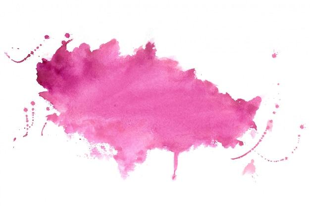 Design de fundo de textura de mancha de aquarela de sombra rosa