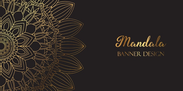Design de fundo decorativo banner mandala