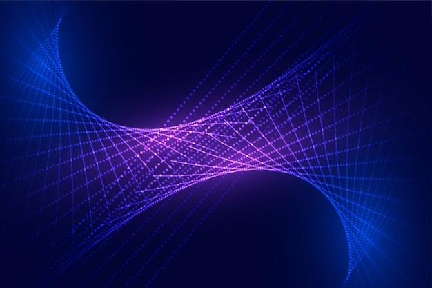 Design de fundo digital abstrato tecnologia ondulada partículas