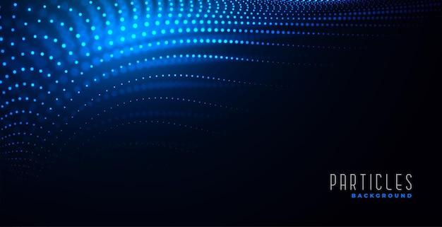 Design de fundo dinâmico de partículas digitais