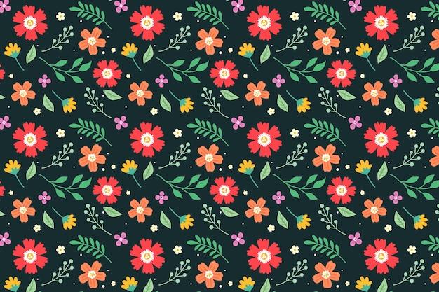 Design de fundo floral servindo colorido