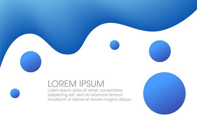 Design de fundo fluido abstrato