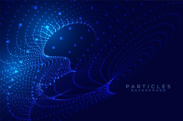Design de fundo futurista abstrato tecnologia de partículas digitais