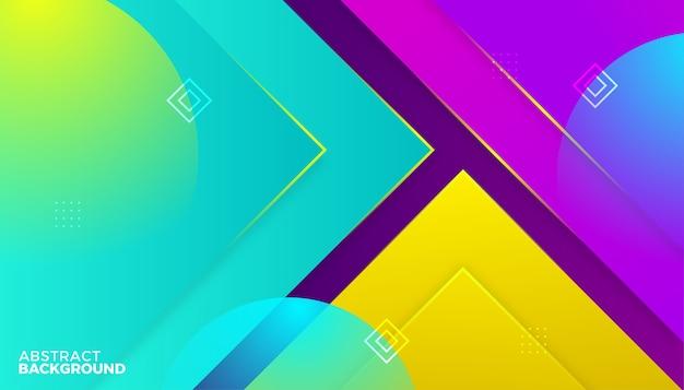 Design de fundo gradiente colorido dinâmico abstrato