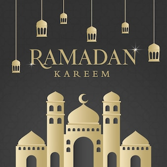 Design de fundo islâmico do ramadan kareem