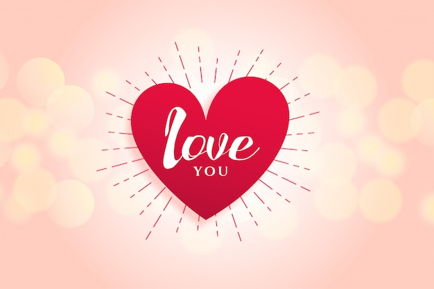 Design de fundo lindo coração de amor