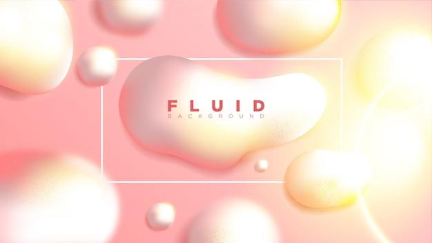 Design de fundo líquido abstrato