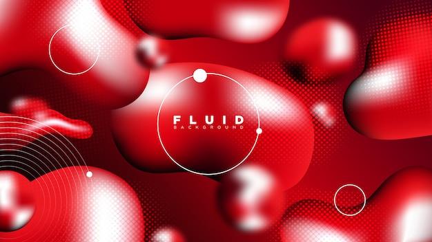 Design de fundo líquido vermelho abstrato