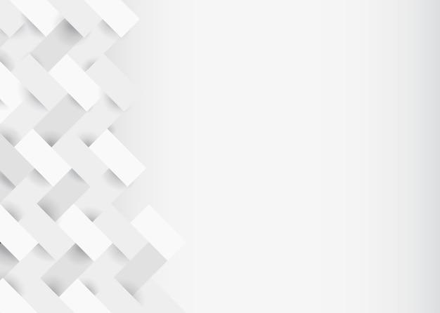 Design de fundo moderno 3d branco