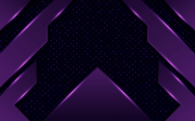 Design de fundo moderno abstrato roxo escuro contração com pontos e linhas