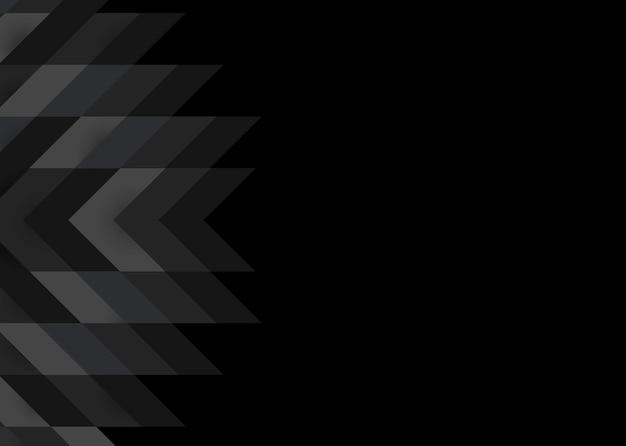 Design de fundo moderno preto 3d