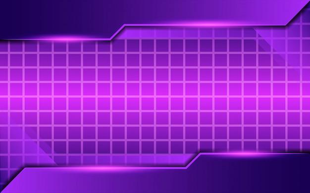 Design de fundo moderno twitch roxo abstrato com linhas e luz roxa