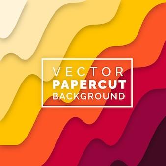 Design de fundo moderno vetor papercut