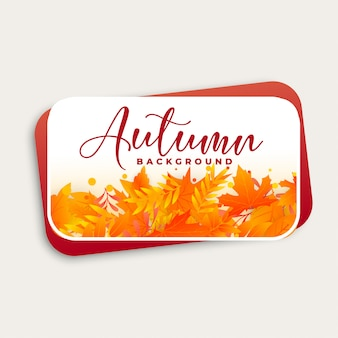 Design de fundo outono com folhas de outono