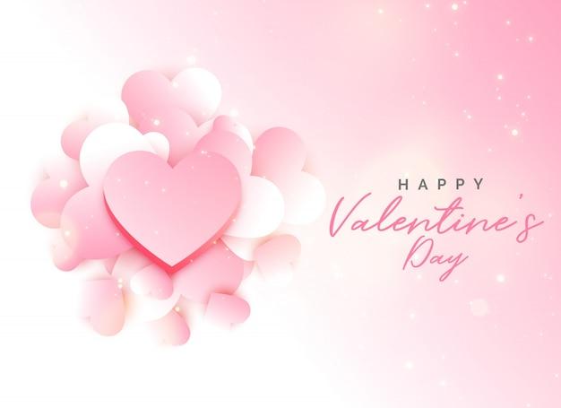 Design de fundo rosa do dia dos namorados macio